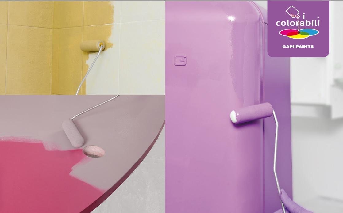 Scrivania laminato verniciare le piastrelle pitturare elettrodomestici colori chiella - Smalto piastrelle bagno ...