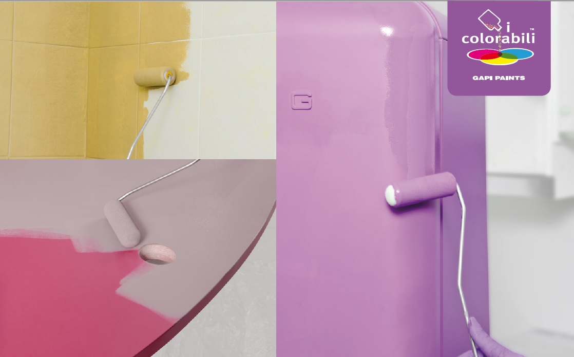 Scrivania laminato verniciare le piastrelle pitturare elettrodomestici colori chiella - Laminato per bagno ...